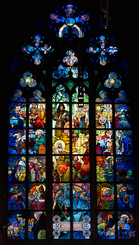 Stained glass by Mucha