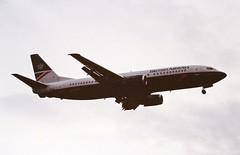 G-DOCH B737-400 British airways LHR 19-06-93 (cvtperson) Tags: gdoch boeing737400 british airways london heathrow lhr egll