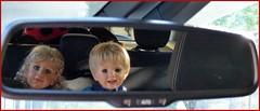 Kontrollblick / Visual check (ursula.valtiner) Tags: puppe doll luis bärbel masterpiecedoll künstlerpuppe auto car rückbank backseat rückspiegel rearviewmirror kontrollblick visualcheck