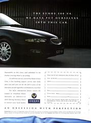 1993 Eunos 500 V6 Sedan Page 2 Aussie Original Magazine Advertisement (Darren Marlow) Tags: 1 3 5 9 19 93 1993 e eunos 50 500 s sedan c car cool collectible collectors classic a automobile v vehicle j jap japan japanese asian asia 90s