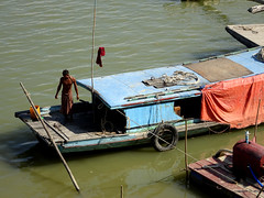 Life on the Irrawaddy River in Myanmar (Claire Backhouse) Tags: boat houseboat river irrawaddy myanmar burma burmese street streetphotography life living people shop riverlife mandalay man men