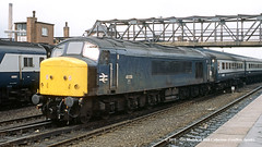 c.03/1985 - Doncaster, South Yorkshire. (53A Models) Tags: britishrail sulzer type4 peak class45 45136 diesel passenger doncaster southyorkshire train railway locomotive railroad