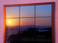 Reflection in the Window (R_Ivanova) Tags: nature summer reflection window sunset sun sea sky coast colors color seaside turkey hotel shore water sony rivanova риванова природа пейзаж лято отражение прозорец залез слънце светлина небе море вода бряг цветно цветове fav20