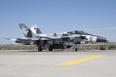McDonnell Douglas F/A-18A+ Hornet 162863 (Jon Hylands) Tags: mcdonnelldouglas fa18a hornet vfc12 navy naval usa usn nasfallon aviation aerospace aircraft aggressor 162863 jet military united states nevada
