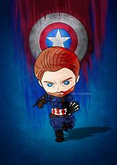 Captain America (scribble_book) Tags: avengers infinitywar endgame marvel funkoart art artist scribble captainamerica america blue red toy fanmade shield