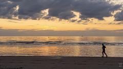 Free runnings (Brand New Image) Tags: nikon sunset beach running sand water sky clouds ocean sea