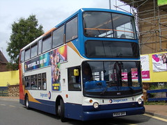 Stagecoach TransBus Trident (TransBus ALX400) 18152 PX04 DPF (Alex S. Transport Photography) Tags: bus outdoor road vehicle stagecoach stagecoachmidlandred stagecoachmidlands alx400 alexanderalx400 dennistrident trident transbustrident transbusalx400 routex47 18152 px04dpf unusual