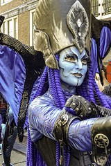 Dragon Woman (CloudBuster) Tags: add tags feestje 2019 juni 16 straatfeest party street spui iamsterdam amsterdam i city capital the netherlands history buildings public dragon draak parade actors performance show glamour glitter blue blauw costume kostuum optreden tourism sightseeing clouds sunshine beauty visit zondagmiddag stad bezienswaardigheid man men women woman wolken lucht sky air zon mensen gezang feest gezelligheid sfee