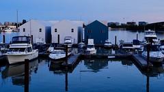 Boathouse Blues (joanne clifford) Tags: richmondbc richmond blues river water hww windowwednesday boats boathouses bc britishcolumbia fraserriver thedeckkitchenbar thedeckrestaurant