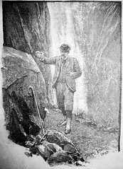 John Watson Finding Sherlock Holmes Cane After Fighting Moriarty Sidney Paget Book Illustration 6124A (Brechtbug) Tags: sherlock holmes page illustration by sidney paget newspaper article the strand 1894 museum cartoon art john watson serialization serial book books gallery new york city comic strip comicbook illustrations exhibitions exhibition museums galleries pop popular culture pulp fiction comics sunday funnies comix location interior news paper articles detective uk english brit british england sir arthur conan doyle
