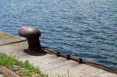 Fixé au quai (hobbyphoto18) Tags: metal iron fer bittedamarrage port harbor harbour quai dock merdunord northsea mer sea eau water pentaxk50 pentax k50 outside exterieur rouille rust