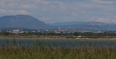 View towards Montpellier from Maguelone (kitmasterbloke) Tags: maguelone palavas montpelier herault france outdoor
