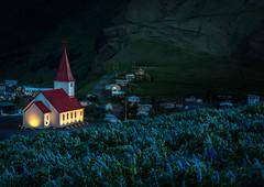 8I6A1824-Edit (Greg Meyer MD(H)) Tags: myrdal vik iceland travel adventure nightphotography longexposure church religion lupine glow destination canon ngc