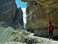 Towards Paternscharte (Vid Pogacnik) Tags: italy mountain landscape outdoors italia hiking dolomites dolomiti paternkofel montepaterno