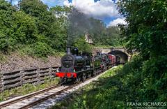 52322 & 78018 | Duffield | 16th June '19 (Frank Richards Photography) Tags: ecclesbourne valley railway duffield steam gala standard 2 ly lancs york 060 260 derbyshire nikon d7100 wirksworth shottle rail june 16th 2019 tunnel locomotive 52322 78018