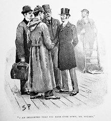 Sherlock Holmes and John Watson - Sidney Paget Book Illustration 6275A (Brechtbug) Tags: sherlock holmes page illustration by sidney paget newspaper article the strand 1894 museum cartoon art john watson serialization serial book books gallery new york city comic strip comicbook illustrations exhibitions exhibition museums galleries pop popular culture pulp fiction comics sunday funnies comix location interior news paper articles detective uk english brit british england sir arthur conan doyle
