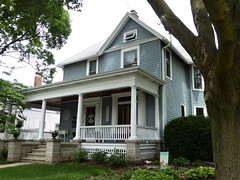 Wheaton, IL, Historic District, Blue House with Porch, Circa 1885 (Mary Warren 13.5+ Million Views) Tags: wheatonil architecture building house residence blue porch