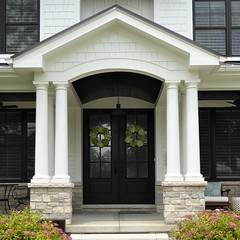 Wheaton, IL, Historic District, Elegant Entrance (Mary Warren 13.5+ Million Views) Tags: wheatonil architecture building house residence white door portal entrance