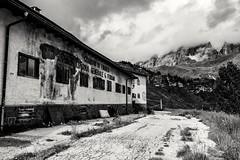 Passo Rolle (ruggierodisavino) Tags: passorolle trentino vecchiacaserma dolomiti vacanze panorama biancoenero
