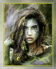 wild nature (andrzejslupsk) Tags: woman portrait andrzej słupsk slupsk face art photo manipulation wild nature green