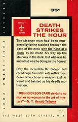 Berkley Books G-101 - John Dickson Carr - Death Watch (back) (swallace99) Tags: berkley vintage 50s murder mystery paperback