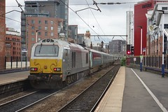 The Last Push (Callum Nicolson) Tags: db dbc cargo 67014 1h89 transport for wales dvt 82308 holyhead manchester piccadilly deansgate