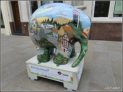 No.22 Earnest Edmund (Alan B Thompson) Tags: 2019 june sculpture charity elephant art lumix fz82 picassa
