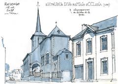 Roclenge, église St-Remy (gerard michel) Tags: belgium liège bassenge roclenge église architecture sketch croquis