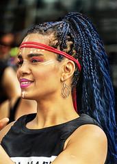 Portrait (D80_536717) (Itzick) Tags: denmark copenhagen candid color colorportrait youngwoman blackwoman earrings headgear hairstyle streetphotography face facialexpression portrait d800 itzick