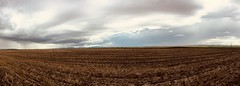 Alberta Foothills Stormy Weather (Mr. Happy Face - Peace :)) Tags: sky cloud sun stormy weather art2019 farmland cropland alberta canada pano