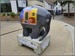 No.27 The Room In The Elephant. (Alan B Thompson) Tags: 2019 june sculpture charity elephant art lumix fz82 picassa