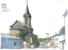 Eben, l'église (gerard michel) Tags: belgium liège bassenge eben église sketch croquis village architecture aquarelle watercolour