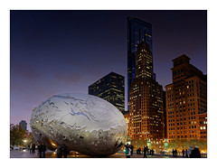 The Bean (Jean-Louis DUMAS) Tags: urban building architecture river dark town tour shot rivière architect urbanisme urbanisation artchitecte winter chicago reflection tower night lumière sony hiver bean architectural reflet nuit bâtiment hdr ville immeuble batiment architecte buildiing architecturale sonyflickraward