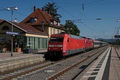 101 092 DB in Heidelberg-Kirchheim / Rohrbach (uhrpfälzer) Tags: eisenbahn zug reisezug eurocity ec ec113 br101 taurus öbb abgebügelt schlepplok bahnhof heidelberg nightjet