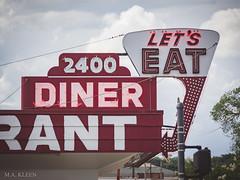 Let's Eat (makleen) Tags: sign signs neonsign neon neonlights steelsign diner virginia fredericksburg usroute1