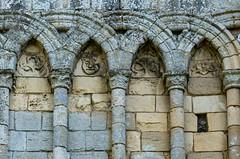 Castle Acre Priory blind arcading (Su Westerman) Tags: castleacrepriory blindarcading romanesque norman norfolk