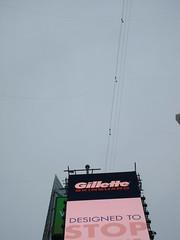 2019 Wallenda Tightrope Line above Times Square 1927 (Brechtbug) Tags: tightrope line above times square that wallenda guy will walk sunday june 23rd 2019 nyc 06192019