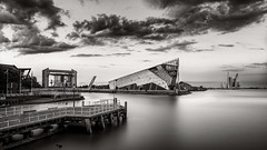 Dusk at The Deep B&W (petebristo) Tags: hul humber thedeep longexposure leestopper leefilters waterscape water architecture evening