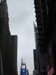 2019 Wallenda Tightrope Line above Times Square 1921 (Brechtbug) Tags: tightrope line above times square that wallenda guy will walk sunday june 23rd 2019 nyc 06192019
