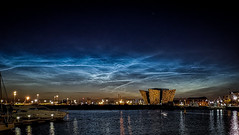 Rare Noctilucent Clouds Photographed Over Belfast   Noctilucent clouds, or night shining clouds, are tenuous cloud-like phenomena in the upper atmosphere of Earth. They consist of ice crystals and are only visible during astronomical twilight. Noctilucent (william_young81@yahoo.co.uk) Tags: noctilucentclouds astrophotography astronomicaltwilight clouds cloudphotography amateurphotographer huawiep20pro mobilephotography belfast northernireland titanic