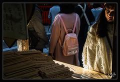 4ème jour / 4th day - A l'étal d'une boutique d'ex-votos sur bois / At the stall of a shop of ex-votos on wood - Arashiyama (christian_lemale) Tags: arashiyama japon kyoto japan nikon d7100 嵐山 京都 日本