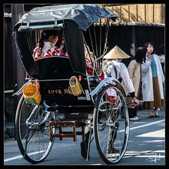 4ème jour / 4th day - Pousse-pousse dans la ville / Rickshaw in the town - Arashiyama (christian_lemale) Tags: arashiyama japon kyoto japan nikon d7100 嵐山 京都 日本