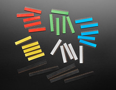 "20-pin 0.1"" Female Headers in Various Colors - 5 packs (adafruit) Tags: 4240 femaleheaders 20pinfemaleheaders"