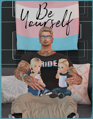 Be Yourself (lukeidlemind) Tags: secondlife pride dad son daughter family love transgender proud zoobysecondliferegionbesaidtemplesecondlifeparcelidlemindislandsecondlifex149secondlifey245secondlifez2468