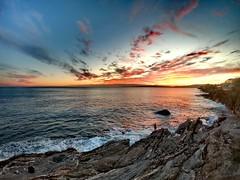 Nervi Sunset (MassyG1985) Tags: genova genoa italia italy tramonto nervi passeggiata landscape paesaggio sunset riflessi reflex sea mare liguria gopro goprohero7 nuvole clouds colori colours
