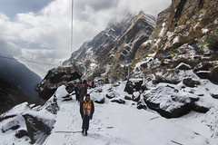 walk together (AanupamM) Tags: trek people travel weather nature nepal himalayas