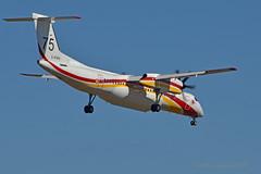 C-FXFK / F-ZB.. Milan 75 (mduthet) Tags: cfxfk milan75 dash8 conair sécuritécivile aéroportdenîmesgarons