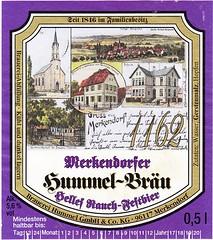 Germany - Brauerei Hummel GmbH & Co KG (Merkendorf) (cigpack.at) Tags: germany deutschland brauereihummel merkendorf merkendorfer hummelbräu hellesrauchfestbier 1162 bier beer brauerei brewery label etikett bierflasche bieretikett flaschenetikett