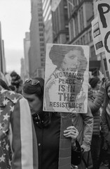 (kevynfairchild) Tags: march protest protests womensmarch women starwars resistence resist newyorkcity nyc bnw blackandwhite 35mm shotonfilm