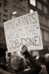 (kevynfairchild) Tags: protest protests immigration womensmarch politics political politicalissues march newyorkcity nyc bnw blackandwhite 35mm shotonfilm analog